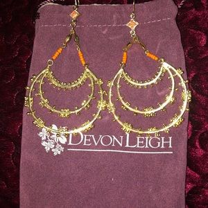 Devon Leigh gold double hoop earrings